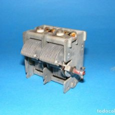 Rádios antigos: CONDENSADOR VARIABLE DE 2 SECCIONES.. Lote 143173306