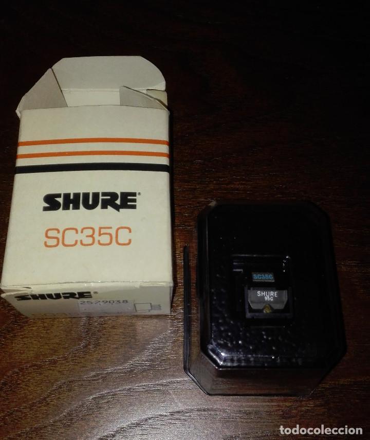 SHURE-CAPSULA MOD.SC35C-CON AGUJA 95C DE DIAMANTE-CON CAJA Y NUEVA COMPLETAMENTE (Radios, Gramophones, Recorders and Others - Spare parts and Valves)