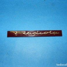 Radios antiguas: LOGOTIPO PARA RADIO A VÁLVULAS RADIOLA RA487A. Lote 143616538