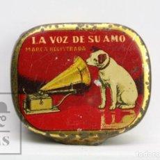 Radios antiguas: ANTIGUA CAJITA DE AGUJAS PARA GRAMÓFONO - LA VOZ DE SU AMO - COMPAÑÍA DEL GRAMÓFONO, SAE. Lote 144348022