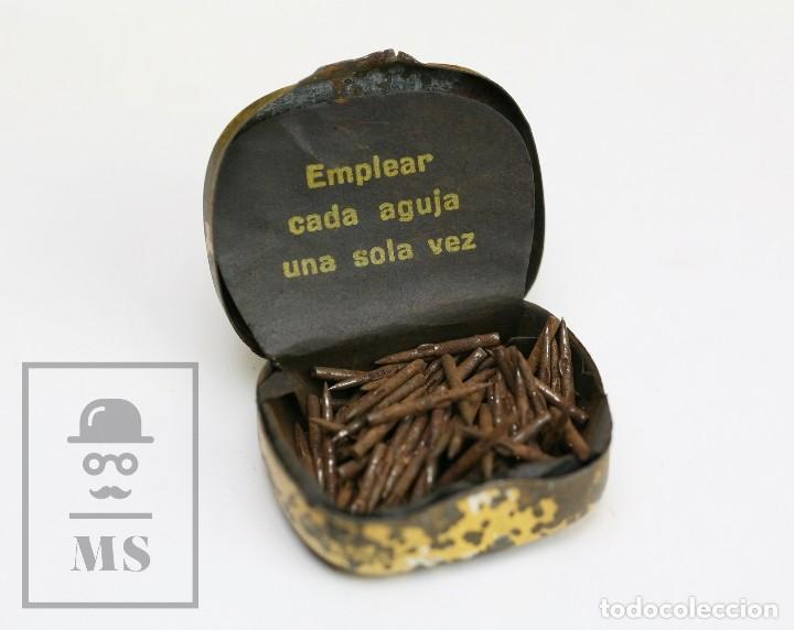 Radios antiguas: Antigua Cajita de Agujas para Gramófono - La Voz de su Amo - Compañía del Gramófono, SAE - Foto 2 - 144348022