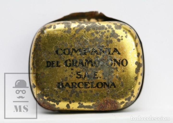 Radios antiguas: Antigua Cajita de Agujas para Gramófono - La Voz de su Amo - Compañía del Gramófono, SAE - Foto 4 - 144348022