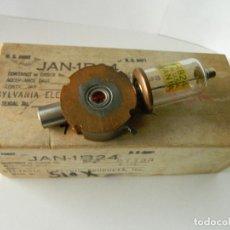 Radios antiguas: TUBO VALVULA DE RADAR SPARK GAP JAN-1B24 SYLVANIA DE LA ARMADA USA. Lote 147679602