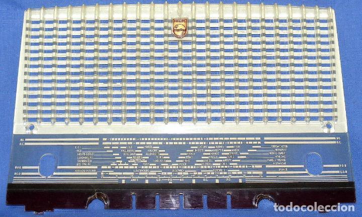 FRONTAL CON DIAL PARA RADIO A VÁLVULAS PHILIPS B3F60A / BF360A (Radios, Gramófonos, Grabadoras y Otros - Repuestos y Lámparas a Válvulas)