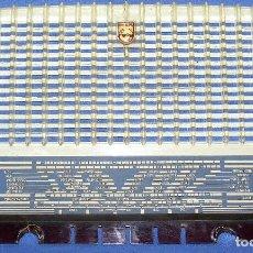 Radios antiguas: FRONTAL CON DIAL PARA RADIO A VÁLVULAS PHILIPS B3F60A / BF360A. Lote 151887254