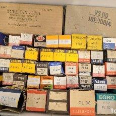 Radios antiguas: LOTE DE 57 VÁLVULAS DE VACIO NUEVAS - PL36 PL84 PL81 PL95 PCL82 ECF80 ECH ECC Y MÁS.... Lote 155932994