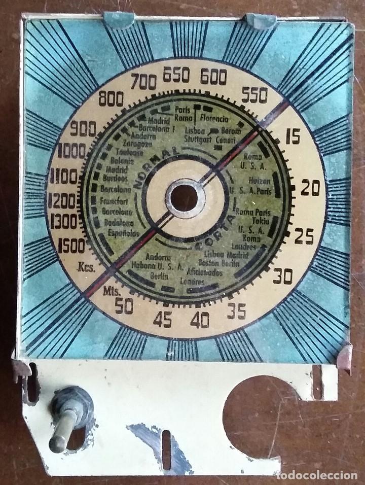 DIAL RADIO PARA RADIO A VALVULAS CON SOPORTE Y EJE (Radios, Gramófonos, Grabadoras y Otros - Repuestos y Lámparas a Válvulas)