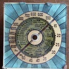 Radios antiguas: DIAL RADIO PARA RADIO A VALVULAS CON SOPORTE Y EJE. Lote 159691894