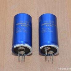 Radios antiguas: 2 CONDENSADORES DE FILTRO 12.000UF 63V - CONDENSADOR AUDIOFILO. Lote 160653834