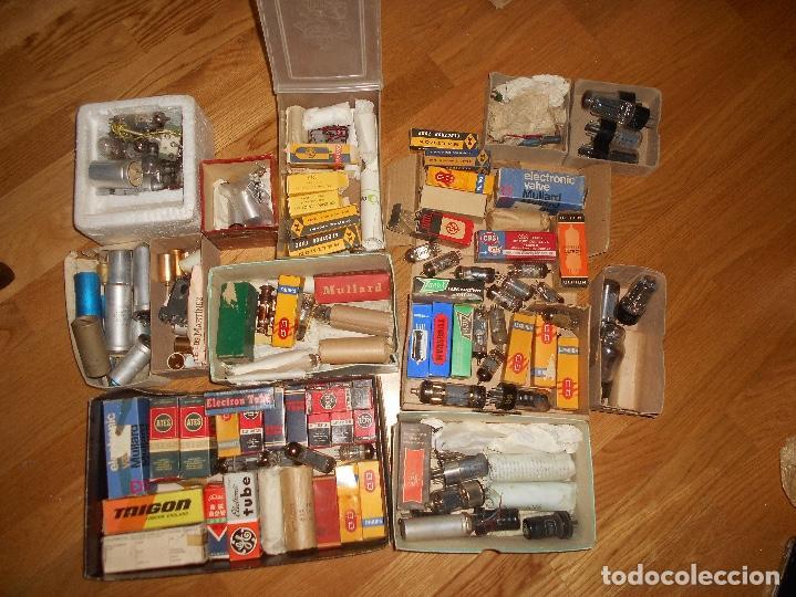 LOTE DE VALVULAS LAMPARAS CEBADORES CONDUCTORES ETC (Radios, Gramófonos, Grabadoras y Otros - Repuestos y Lámparas a Válvulas)