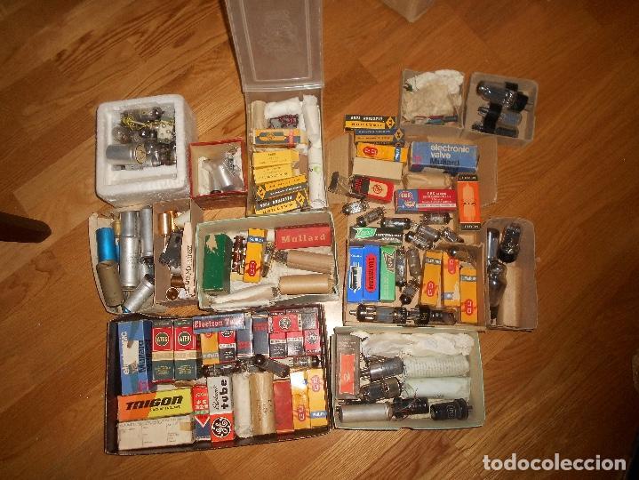 Radios antiguas: LOTE DE VALVULAS LAMPARAS CEBADORES CONDUCTORES ETC - Foto 7 - 168633372