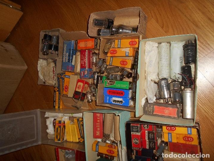 Radios antiguas: LOTE DE VALVULAS LAMPARAS CEBADORES CONDUCTORES ETC - Foto 10 - 168633372