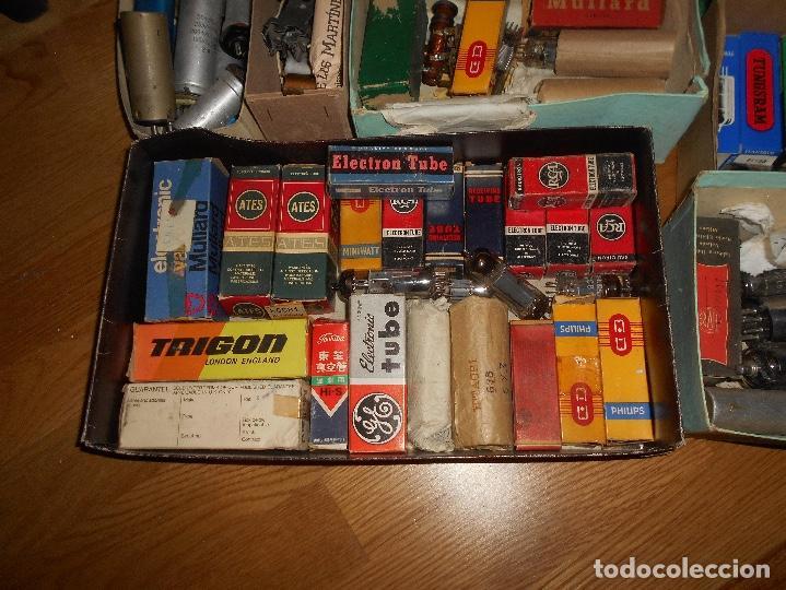 Radios antiguas: LOTE DE VALVULAS LAMPARAS CEBADORES CONDUCTORES ETC - Foto 12 - 168633372