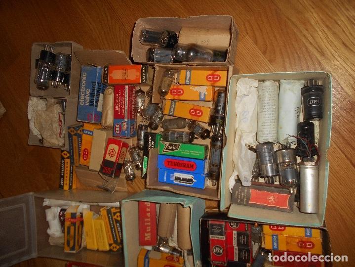 Radios antiguas: LOTE DE VALVULAS LAMPARAS CEBADORES CONDUCTORES ETC - Foto 14 - 168633372