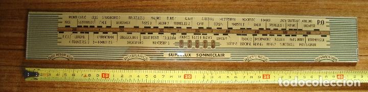 ANTIGUO CRISTAL DIAL DE RADIO (Radios, Gramófonos, Grabadoras y Otros - Repuestos y Lámparas a Válvulas)