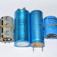 Radios antiguas: 6 CONDENSADORES ELECTROLITICOS DE ALTA CAPACIDAD - CONDENSADOR. Lote 172299780