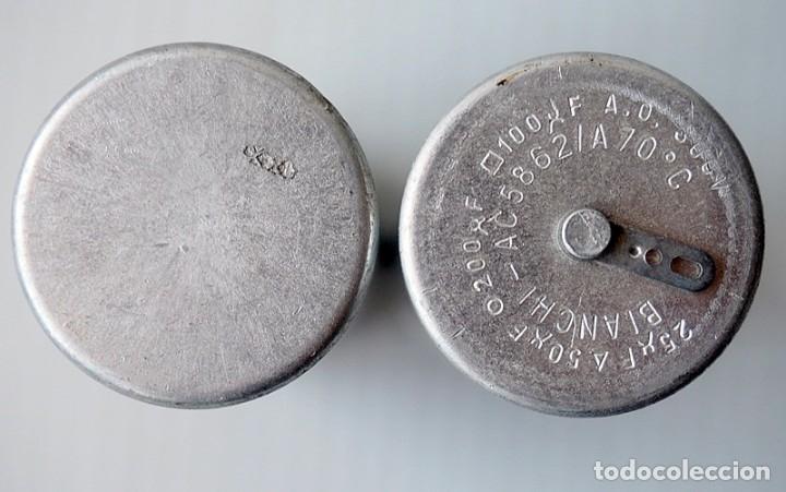 Radios antiguas: Lote de 2 condensadores. Bianchi y Saeco Trevoux - Foto 3 - 172566819
