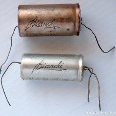 Radios antiguas: LOTE DE 2 CONDENSADORES BIANCHI. Lote 172568985