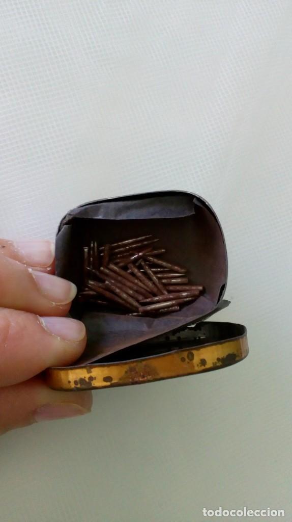 Radios antiguas: ANTIGUA CAJITA DE AGUJAS PARA GRAMÓFONOS ´LA VOZ DE SU AMO´ - Foto 3 - 179066756