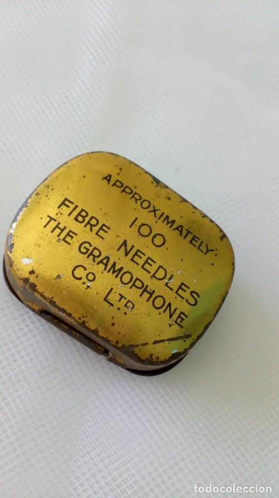 Radios antiguas: ANTIGUA CAJITA DE AGUJAS PARA GRAMÓFONOS ´LA VOZ DE SU AMO´ - Foto 4 - 179067231