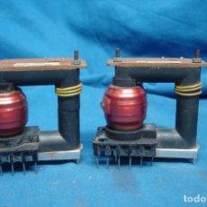 Radios antiguas: - ANTIGUOS TRANSFORMADORES DE ALTA PARA TV - 2 UNIDADES, SIN USO. Lote 179197626