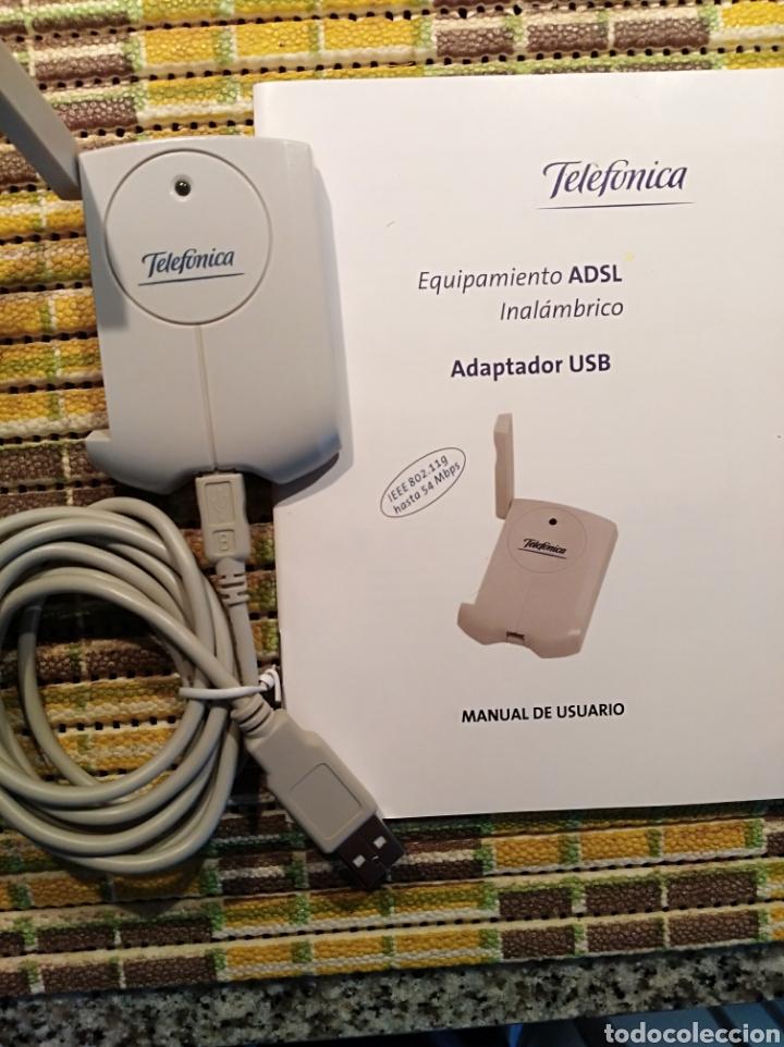 EQUIPAMIENTO ADSL INALÁMBRICO DE TELEFÓNICA, CON CABLE A USB Y CABLE CARGADOR A CORRIENTE (Radios, Gramófonos, Grabadoras y Otros - Repuestos y Lámparas a Válvulas)