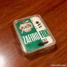 Radios antiguas: LOTE 2 CAJAS DE AGUJAS TOCADISCOS ZAFIRO FOX TIPO 110 ZST Y EUDEL ZAFIRO 2304-Z PATHE ME.. Lote 180280015