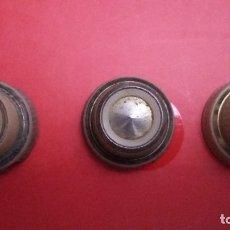 Radios antiguas: LOTE 3 BOTONES RADIO A VALVULAS.. Lote 180888793