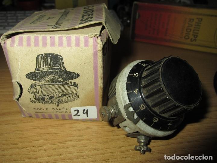 Radios antiguas: REOSTATO POTENCIOMETRO RADIO GALENA RADIO COFRE VALVULAS NUEVO EN CAJA ORIGINAL SIN USAR - Foto 2 - 182174073