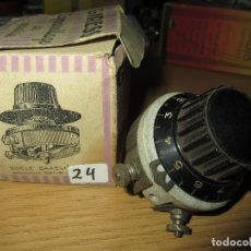 Radios antiguas: REOSTATO POTENCIOMETRO RADIO GALENA RADIO COFRE VALVULAS NUEVO EN CAJA ORIGINAL SIN USAR. Lote 182174073