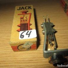 Radios antiguas: CONECTOR JACK RADIO GALENA RADIO COFRE VALVULAS NUEVO EN CAJA ORIGINAL SIN USAR. Lote 182227008