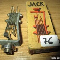 Radios antiguas: CONECTOR JACK RADIO GALENA RADIO COFRE VALVULAS NUEVO EN CAJA ORIGINAL SIN USAR. Lote 182228732