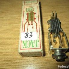 Radios antiguas: CONECTOR JACK RADIO GALENA RADIO COFRE VALVULAS NUEVO EN CAJA ORIGINAL SIN USAR. Lote 182229045