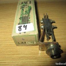 Radios antiguas: CONECTOR JACK RADIO GALENA RADIO COFRE VALVULAS NUEVO EN CAJA ORIGINAL SIN USAR. Lote 182229178