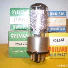 Radios antiguas: JUEGO DE VALVULAS DE RADIO AMERICANA-12SA7-12SQ7-12SK7-35Z5-50L6-NUEVAS.. Lote 221835166