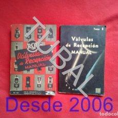 Radios antiguas: TUBAL VALVULAS RECEPCION MANUAL RC14 2 TOMOS ENVIO 4,50 € 2019 U8. Lote 185874695