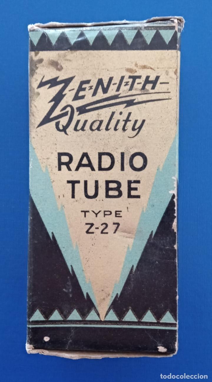 CAJA CARTON VALVULA ZENITH RADIO TUBE. W (Radios, Gramófonos, Grabadoras y Otros - Repuestos y Lámparas a Válvulas)