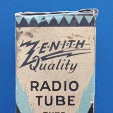 Radios antiguas: CAJA CARTON VALVULA ZENITH RADIO TUBE. W. Lote 187508817