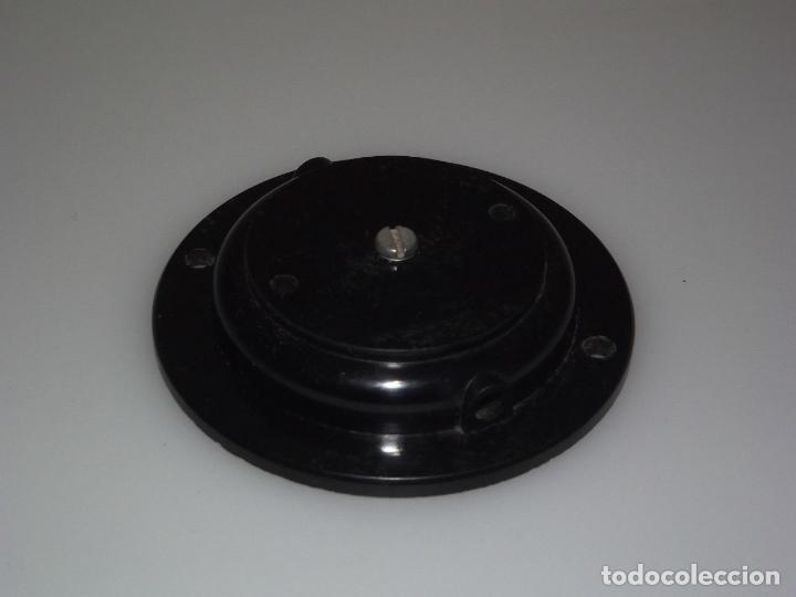 SOPORTE/TAPA TRASERA PARA AURICULAR DE RADIO MAYMO - BAKELITA. (Radios, Gramófonos, Grabadoras y Otros - Repuestos y Lámparas a Válvulas)
