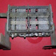 Radios antiguas: CONDENSADOR VARIABLE 2 SECCIONES.. Lote 194216882