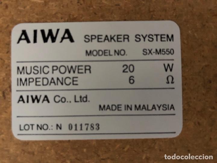 Radios antiguas: Altavoz AIWA modelo SX-M550. - Foto 5 - 194258073