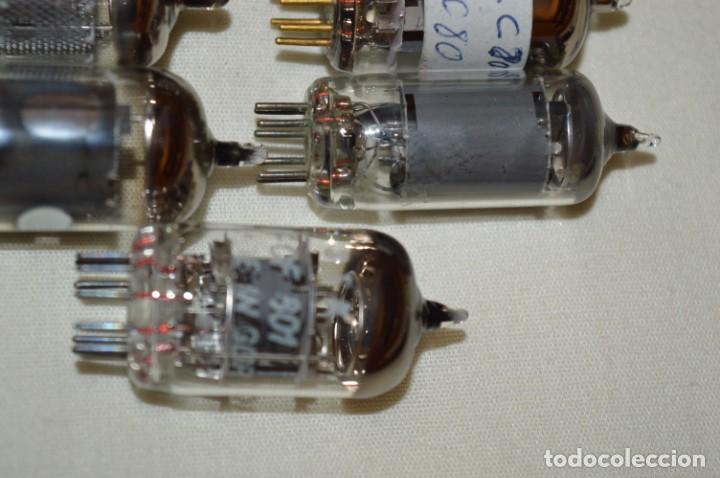 Radios antiguas: 13 VÁLVULAS / LÁMPARAS, ECC80 / ECC 80 y otros tipos / TELEFUNKEN / MARCONI / MINIWATT y otras marca - Foto 5 - 196805015