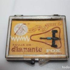 Radios antiguas: AGUJA MAGNETICA PARA TOCADISCOS MARCA DIAMANTE FOX MODELO 630 DST COLUMBIA. Lote 204698431