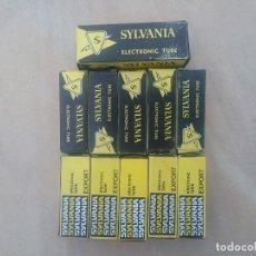 Radios antiguas: LOTE COMPUESTO POR 11 VALVULAS SILVANIA. Lote 205362846