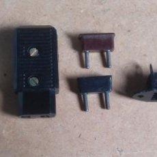 Radios antiguas: ELECTRONICA, LOTE CONECTORES Y BASES DE ANTENA Y OTROS. Lote 205690623
