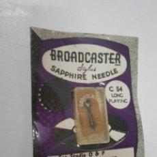 Radios antiguas: ANTIGUA AGUJA PARA PICK UP O TOCADISCOS NUEVA EN SU BLISTER BROADCASTER SAPPHIRE NEEDLE C 54. Lote 207033772