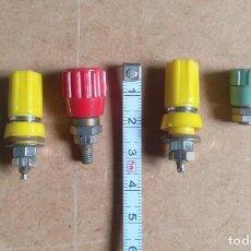 Radios antiguas: ELECTRONICA, LOTE DISTINTAS BASES DE CONECTORES BANANA. Lote 207393418