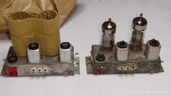 DOS MODULOS MICAFIX DE FI CON SUS VALVULAS. (Radios, Gramófonos, Grabadoras y Otros - Repuestos y Lámparas a Válvulas)