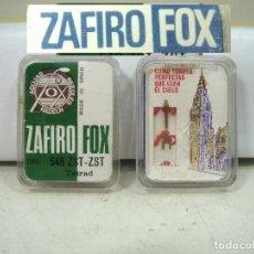 Radios antiguas: AGUJA DE TOCADISCOS - TETRAD 33 ZST -ZAFIRO FOX ¡¡NUEVA ¡¡ PLATO LECTOR DISCOS 33ZST. Lote 211743029
