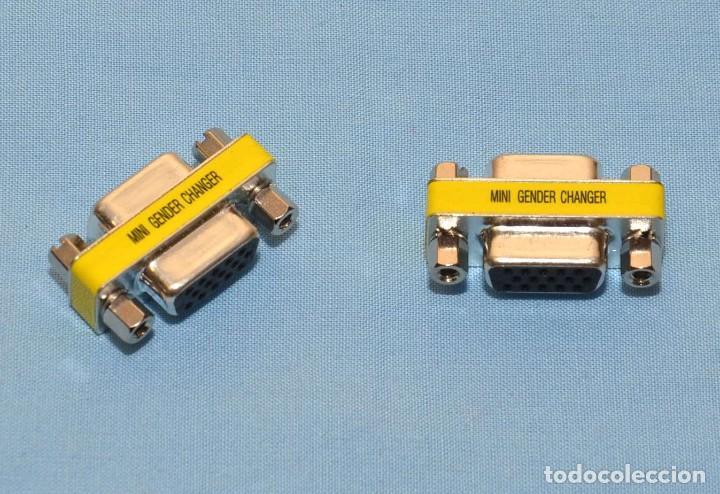 MINI GENDER CHANGER - ADAPTADOR HEMBRA HEMBRA - HDD15P - 2 UNIDADES (Radios, Gramófonos, Grabadoras y Otros - Repuestos y Lámparas a Válvulas)
